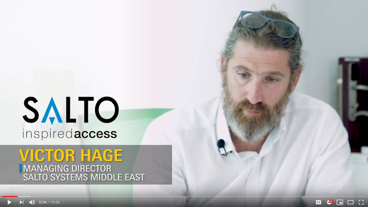 Victor Hage, Managing Director, Salto Systems,  Middle East