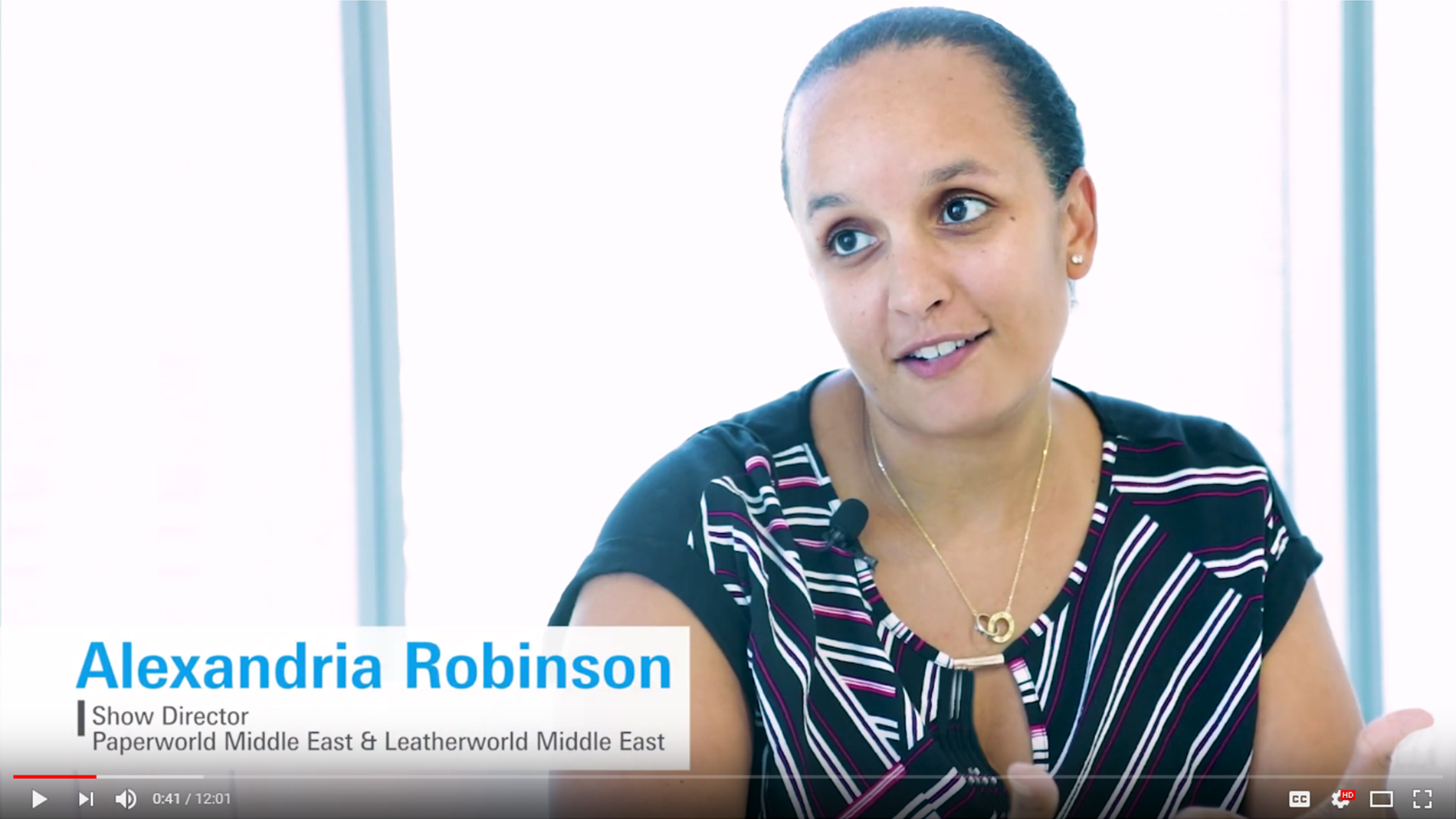 Paperworld Middle East - Alexandria Robinson Interview